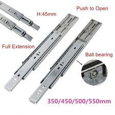Push to Open Full Extension 45mm Ball Bearing Drawer Runners/Slides 300mm-600mm