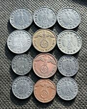 AUTHENTIC OLD COINS OF THIRD REICH GERMANY SWASTIKA WORLD WAR II - MIX 1255