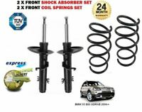 FOR BMW X3 E83 XDRIVE 2004-> 2 x FRONT SHOCK ABSORBER SET + 2x COIL SPRINGS KIT