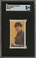 Very Rare 1909-11 T206 HOF Vic Willis With Bat Old Mill Back St. Louis SGC 5 EX