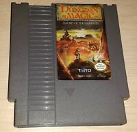 Dungeon Magic Sword of the Elements Nintendo NES Original vintage game cartridge