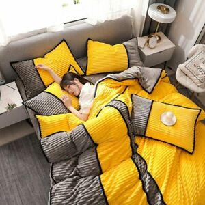 2020 New Magic Fleece Bedding Set Winter Thick Duvet Cover Set King Constract