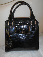 """JASPER CONRAN"" DESIGNER LARGE BLACK PATENT LEATHER HANDBAG!!!"