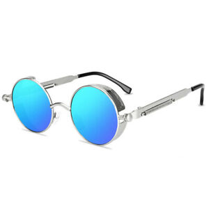 Retro Steampunk Sunglasses John Lennon Style Vintage Round Metal Circle Glasses
