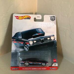 Hot Wheels Car Culture Plymouth Barracuda Hemi Power Trip #1/5 Real Riders PF8