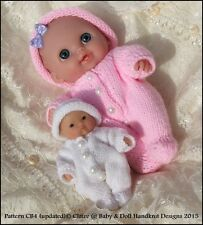 "BABYDOLL HANDKNIT DESIGN KNITTING PATTERN SUIT  5-8"" BERENGUER DOLL LIL CUTESIE"