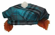 Childs 8-12 RED /& GOLD Tartan TAM /'O/' Shanter con i capelli Scottish Highland Cappello