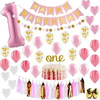 Baby 1st Birthday Girl Decorations Princess - First Birthday Party Supplies Set