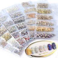 1680pcs Nail Art Rhinestones Glitter Diamond Crystal Gems 3D Tips DIY Decoration