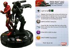 Marvel Heroclix Invencible Iron Man-Iron Man & Máquina de Guerra #043 Super Raro Sr