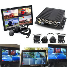 "​4CH Truck DVR Video Recorder + 7"" Dash Monitor Front Rear Side Camera Van Bus"