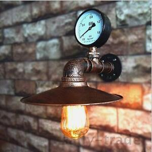 Industrial Vintage Water Pipe Edison Wall Sconce Wall Lamp Fixture Bedside Light
