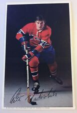 PETE MAHOVLICH SIGNED MONTREAL CANADIENS 1971 POST CARD PHOTO W/NOTE, Red Wings