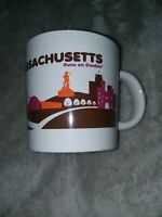 Massachusetts Runs On Dunkin Donuts Destination Coffee Cup Mug Boston Skyline