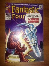 Fantastic Four #55 Silver Surfer Vs Thing Classic Battle Cover F- 5.5 OW Pages