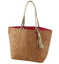Mud Pie Carlton Cork Tote Bag Purse Travel Beach Shopping Lined Key Fob New