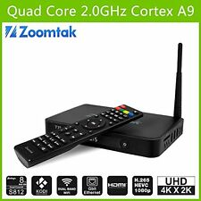 ZOOMTAK T8  ALLUMINUIM QUAD-CORE ANDROID SMART TV BOX 4.4-4K