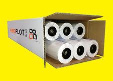 (0,23€/m²) Plotterpapier ungestrichen | 6 Rollen | 80g/m², 610mm x 50m