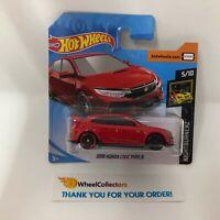 Short Card * 2018 Honda Civic Type R * RED * 2019 Hot Wheels Case J * D25
