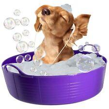 PURPLE DOG BATH, DOG PADDLING POOL, DOGGY POOL, FLEXI SHALLOW 35L TUBTRUG PET