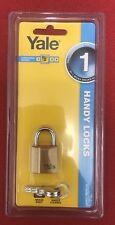 Yale 25mm Brass Padlock with 2 Keys