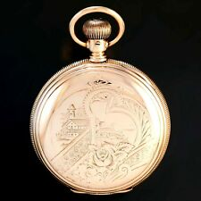 14K YELLOW GOLD HUNTER CASE ELGIN POCKET WATCH CA1903 | 18 SIZE, 15 JEWEL