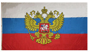 5x8 ft Russia Russian Presidential Flag Rough Tex Knitted 5'x8' Banner Grommets