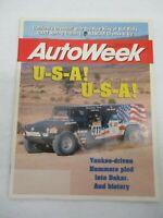 AUTO WEEK MGAZINE FEBRUARY 19, 1996 FORD TAURUS LX HUMMERS IN DAKAR NASCAR CAR