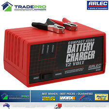 Genuine Arlec® Battery Charger PRO 12V 4.5 Amp Auto Car Bike &Trickle Charge