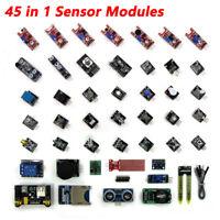 45 In 1 Sensor Module Board Kit Upgrade Version For Arduino Upgrade Sensor Kit