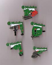 lot de 5 pin's outillage / Metabo (perceuse, ponceuse...)