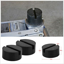 2 X Black Car Off-Road Slotted Frame Hydraulic Floor Jack Rubber Pad Adapter Kit