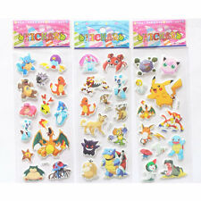 3pcs DIY Pokemon Stickers Pikachu Pocket Monster Scrapbooking Sticker Sheet