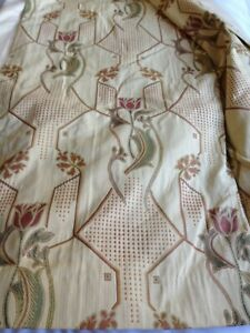 Stunning art nouveau style curtains, pinch pleat and fully lined