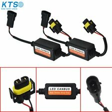 2x H11 LED Headlight Canbus Error Free Anti Flicker Resistor Canceller Decoder