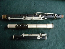FLUTE ANTIQUE EBONY AND( SILVER coloured metal head) EXCELLENT CONDITION rare