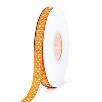 "25m Reel Polka Dot Grosgrain Ribbon - 10mm (3/8"") width - Various Colours"