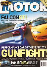 Motor Apr 03 FPV GT FALCON MONARO AUDI A4 VY GTS WRX STI XKR S TYOPE E32 AMG
