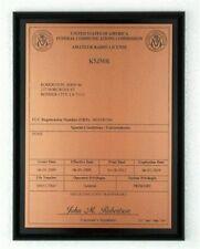 HAM Radio - Amateur Radio License Call Sign Copper & Black Plaque - *NICE GIFT*