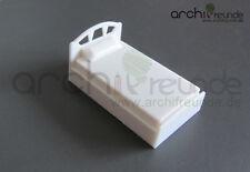 1 Modell Einzelbett  weiß für Modellbau 1:50, Modelleisenbahn Spur 0