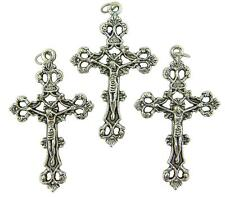 MRT Lot Of 3 Crucifix Pendant Oxidized Silver Catholic Cross Gift Italian Made