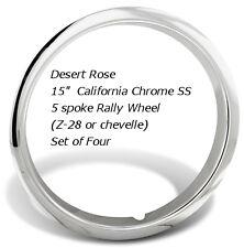 "15"" Z28 Camaro Chevelle GM Chrome SS Beauty Trim Rings Chevy Z-28 5 spoke wheel"