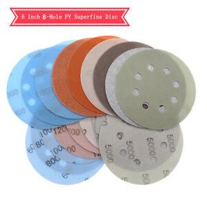 "5"" 125mm 5 6 8 Hole soft superfine wet/dry hook & loop sandpaper 600-5000 grit"