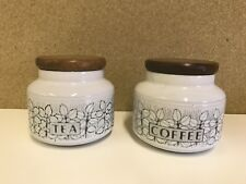 Hornsea Pottery Charisma Tea & Coffee Container Jars