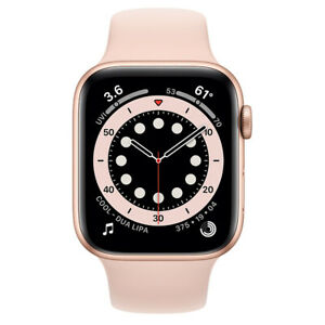 Apple Watch Series 6 GPS 40mm Gold Aluminum Case w Pink Sports Band Agsbeagle