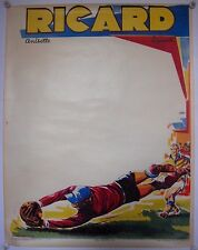 Original poster football pour ricard 1950s
