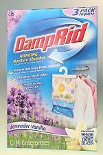 Damp Rid Closet Fresh 3 pack Lavender Vanilla Scent