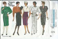Vogue 1647 sewing pattern DRESS elegant midriff drape sew GLAMOROUS sizes 6,8,10