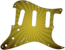 Stratocaster Strat Pickguard Custom Fender SSS 11H Guitar Graphic Big Top Yellow