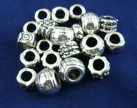 20 European Mix Antiksilber Spacer Perlen Beads B01777